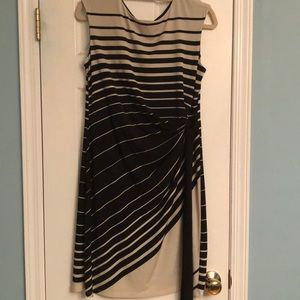 Tan and Black Striped Dress